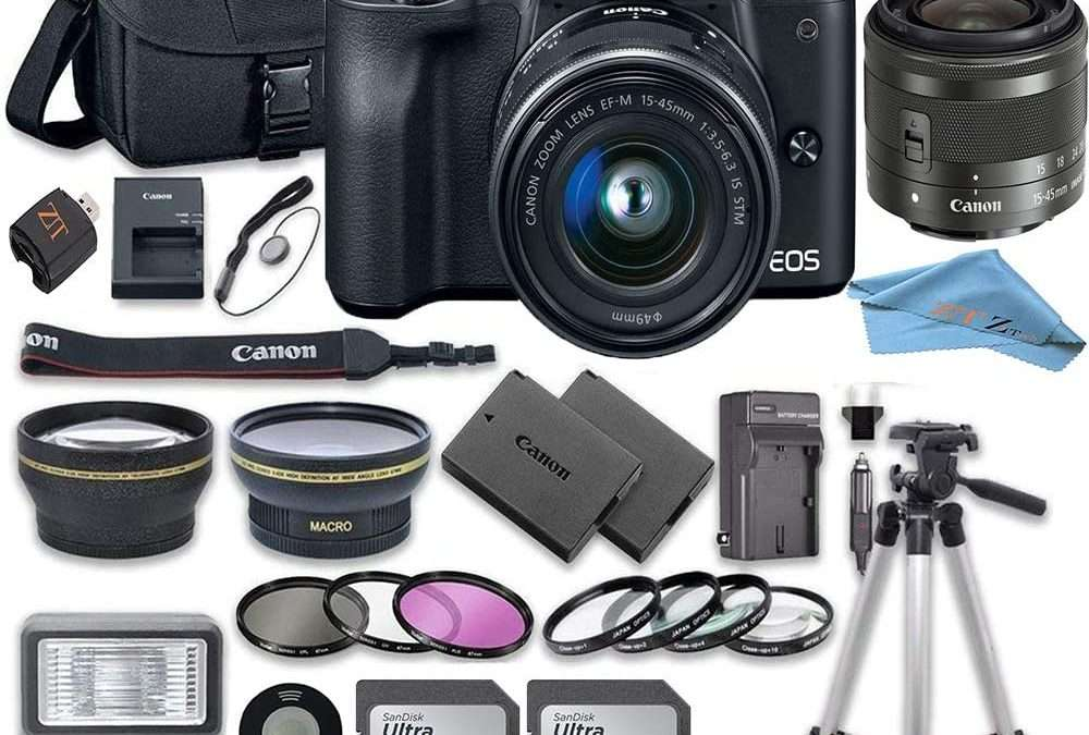 Canon EOS M50 Mirrorless Camera Kit with 15-45mm Lens and Accessory Kit
