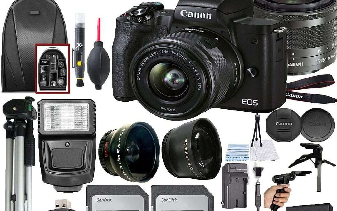 Canon EOS M50 Mark II Mirrorless Camera Kit with Wi-Fi and Bluetooth